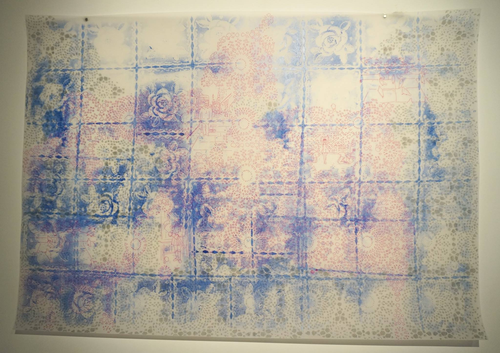 Retrospectacle, 2014-2015, serie of 5 drawings, marker on parchment paper (oil, horsehair), variable dimensions